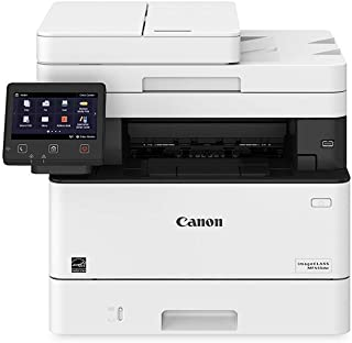Canon Imageclass MF445dw - All In One, Wireless, Mobile Ready Duplex Laser Printer, with 3 Year Warranty, White, Amazon Dash Replenishment enabled (Renewed)