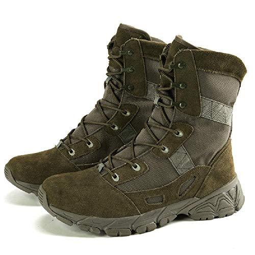 NANFAN Zapatos tácticos Militares Hombres Botas Combate Entrenamiento del Desierto ejército Selva Zapatos policía de Patrulla Seguridad Ligeros,Green-40