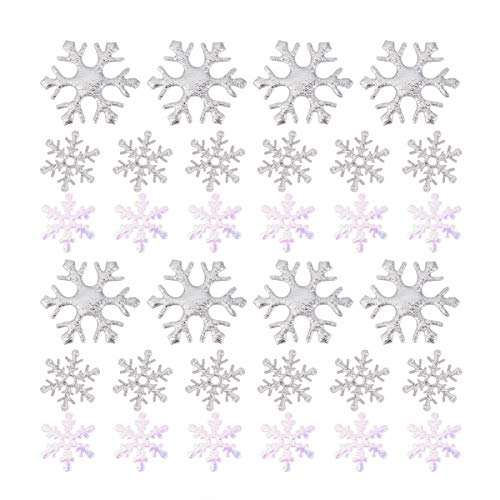 TOYANDONA Navidad Copo de Nieve Confeti 600 Piezas Mesa Confeti decoración Ornamento para decoración Confeti para cumpleaños Navidad Invierno Boda Fiesta decoración Suministros