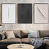 Lienzo minimalista con diseño de cuchillo y pintura para pared, color negro,...