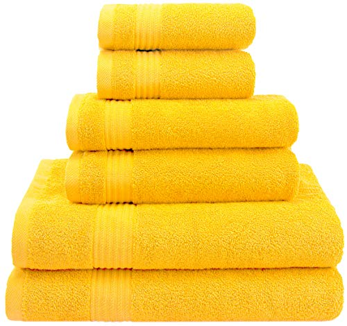 American Veteran Towels Hotel & Spa Quality Super Absorbent & Soft, 6-Piece Towel Set for Kitchen &...
