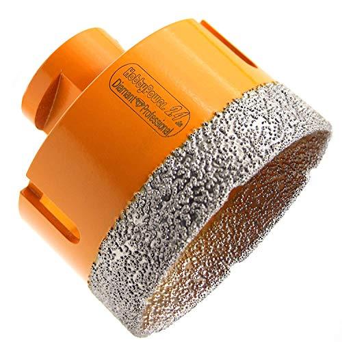 Premium Diamantbohrer 60mm mit M14 Gewinde für Winkelschleifer Flex oder mit Adapter auf 6-Kant für Bohrmaschinen oder Akkuschrauber, geeignet für folgende Materialien wie Granit oder Marmor etc.