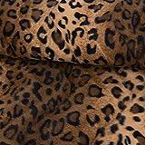 SCHÖNER LEBEN. Velours Fellimitat Kunstfell Leopard braun