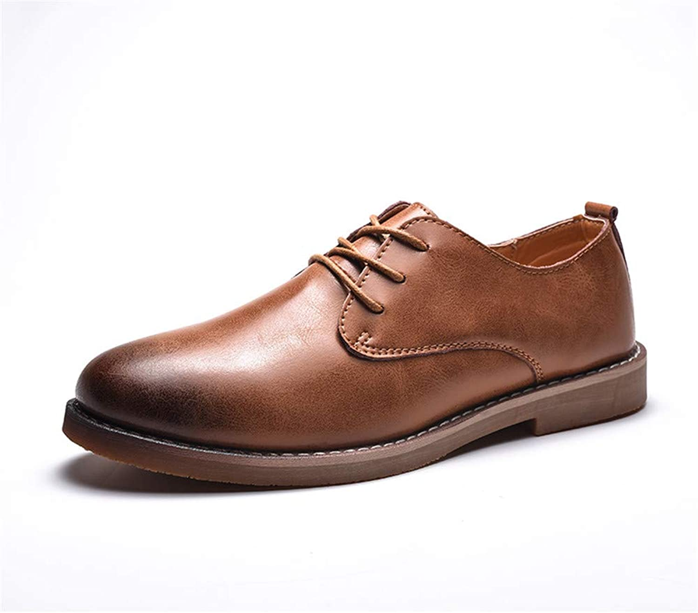 MUWU M än Business Oxford Classic Classic Classic low Top Comfortable Round Toe Splicing Formal skor (Färg  ljus bspringaaa, Storlek  7.5 M US)  mode galleria