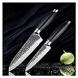 IOZSI Cuchillos DE Cocina DE 8 Pulgadas 3 Caja 440C CHEFER Formed Chef Chef DE Cuchillo DE FRUZ CUBIERTE Cuchillo DE CLEADOR con G10 HANGE Cock Tool (Color : 2PCS Knives Set)