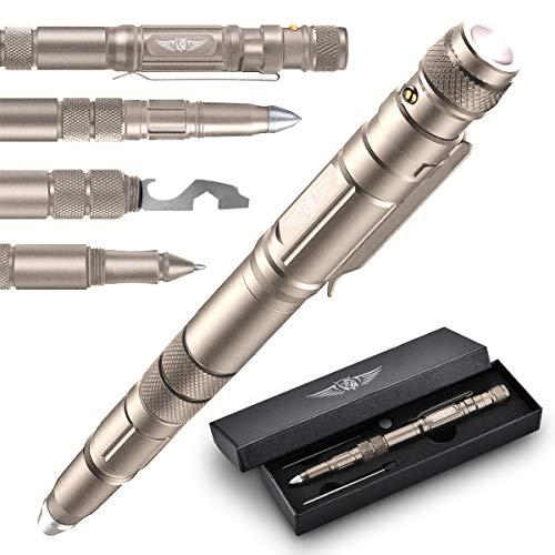 BIIB Geschenke für Männer, Taktischer Stift mit Taschenlampe Gadgets für Männer, Ostergeschenke, Coole Werkzeug Kleine Geschenke für Papa Opa, Vatertagsgeschenk, Frauen Männer Geschenke