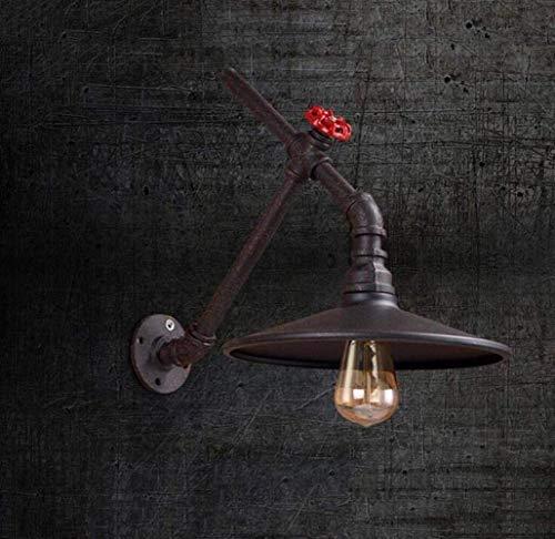 DKee Lámpara de Pared Lámpara De Pared De Estilo Industrial Vintage Lámpara De Pared Creativa Tubo De Agua Lámpara De Óxido Cuerpo Diseño Exclusivo Forma Elegante, Negro, A