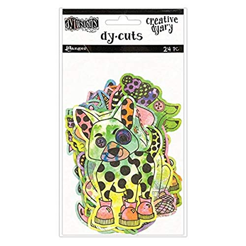 Ranger Colored Animals Dyan Reaveley's Dylusions Creative Dyary Die Cuts