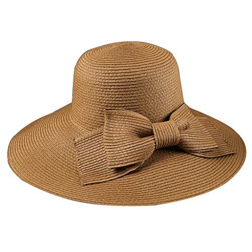 SUSHI Sombrero de la protección del Sol de Las Mujeres Sombrero del Sol - Sombrero de Paja Dulce de la Manera del Verano Sombrero de la Playa del ala Grande Plegable del Viaje de la Playa
