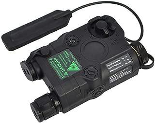IHPMCNZG PEQ-15 Green Dot Laser with White LED Flashlight and IR Illuminator Black
