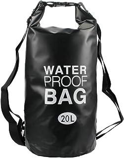 حقيبة جافة مقاومة للماء متوسطة 20 لتر حقيبة ظهر ملفوفة أعلى الحقيبة تبقي معدات تطفو جافة للتجديف وركوب القوارب والسباحة وا...