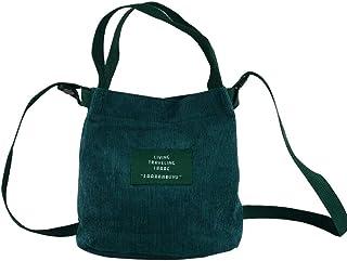 Eflying Lion Mini Cord Schultertasche Damen,Lässige Handtasche,Handtasche Tasche,Mädchen Umhängetasche (dunkelgrün)
