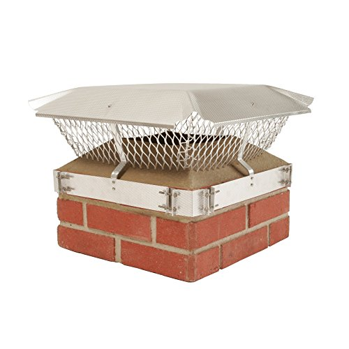 Cheapest Price! HY-C 188B Duro Shield Single Flue Aluminum Band-Around Brick Chimney Cap, 16 x 16 ...