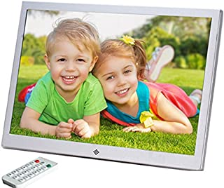 Bauty 15.4インチ 広視野角デジタルフォトフレーム 、1280*800フル高解像度プレミアムモデル/写真・動画・音楽再生・HDMI入力。ピアノ塗料、金属フォトフレーム。 (シルバー)