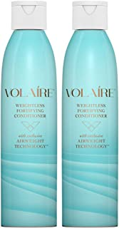 Volaire Weightless Fortifying Conditioner - Helps Strengthen Hair, Seal in Moisture and Prevent Breakage | Sulfate Free | Paraben Free | Safe for Color Treated Hair, 8 Oz (2 Pack)