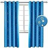 BGment Vorhänge Blickdicht Sterne mit Ösen Gardine Thermo isoliert für Baby, Kinderzimmer,Blau Verdunkelungsvorhänge 1 Paar (2X H 228 X B 117cm,Blau) - 8