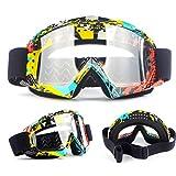 1 Piezas Ski Goggles Gafas de esquí Gafas de Snowboard Gafas Esquí Snowboard para Mujer Hombre,Máscara Esquí con Gran Campo de Visión,Doble Lente Anti-Niebla,UV400 Protección,Lente Intercambiable