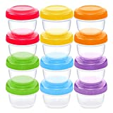 WeeSprout Leakproof Baby Food Storage | 12 Container Set | BPA Free...