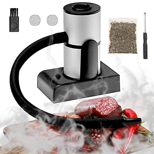 Updated Smoking Gun, Portable Handheld Smoke Infuser, Cocktail Smoker, Cold Smoker Food Smoker Gun for Any Meat Cocktail Cheese BBQ Steak Beef, Sausage, Vegetable Salad, Drinks,Smoking Accessories