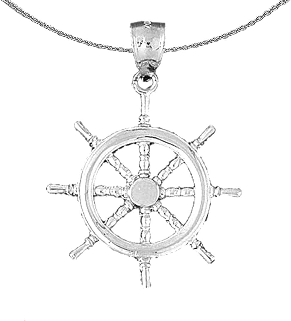 Regular store Special price for a limited time Jewels Obsession Silver Ships Rhodium-plated Necklace Wheel 92