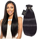 8A Brazilian Straight Virgin Hair 3 Bundles 12'14'16' 100g/bundle Tight And Neat Full And Thick 100% Unprocessed Virgin Human Hair Weave No Tangle Natural Color Modernlady