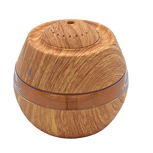 Wascoo 300 ML Große Kapazität Aromatherapie Diffusor Holzmaserung Aromatherapie Luftbefeuchter für Büro Schlafzimmer SPA Yoga