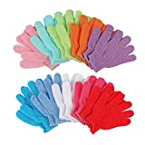 10 Pairs Double Sided Exfoliating Gloves Body Scrubber Scrubbing Glove Bath Mitts Scrubs f...