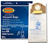 EnviroCare Replacement Vacuum Bags for Eureka RR, 61115 Boss Smart Vac 4800. 9 Pack, 9, White, 9 Count