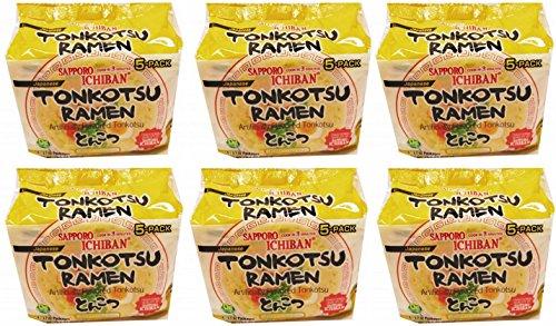 Sapporo Ichiban Japan Tonkotsu Instant Ramen Bag 5...