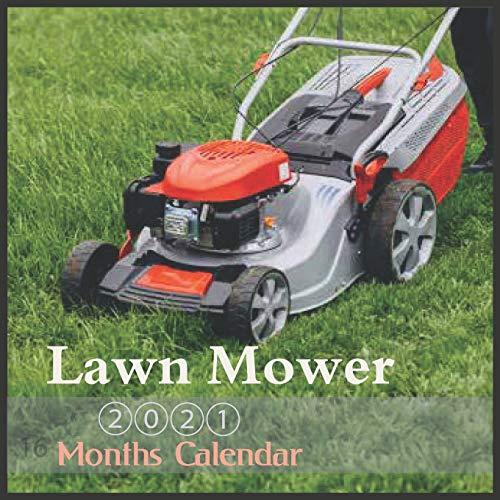 Lawn Mower 2021: Calendar With Holidays 16 Month lawnmower Calendar