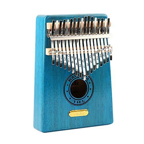 Houten Vinger Piano Draagbare Kalimba Duim Piano Natuurlijke Hout 17 Sleutel Standaard C Vinger Piano Metalen Graveren Schaal Met Tuning Hammer Pickup Tas Duim Piano