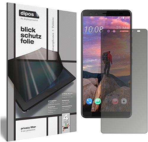 dipos I Blickschutzfolie matt kompatibel mit HTC U12 Plus Sichtschutz-Folie Bildschirm-Schutzfolie Privacy-Filter