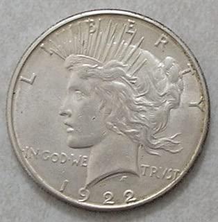 1922 S Silver Dollar Peace