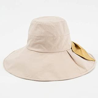 ZRL77y Womens Summer Bucket Hat, Summer Ladies UPF 50 Sun Hats Wide Brim Packable Sun Hats,Panama Beach Hats (Color : Beige)