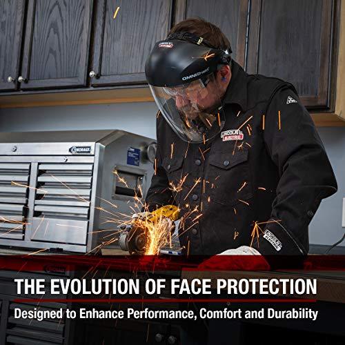 Lincoln Electric OMNIShield Professional Face Shield   High Density Clear Lens   Premium Headgear   K3750-1