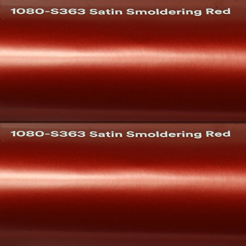 3M 24,99€/m² Autofolie Scotchprint Wrap Film 1080 Satin Smoldering red gegossene Matt Profi Folie 152cm breit BLASENFREI mit Luftkanäle