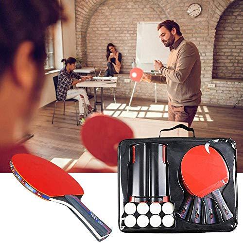 YAOLAN Multiplayer tafeltennistafel set met 4 tafeltennistafels 1 draagtas en 8 pingpongballen 1 Intrekbaar pingpongnet Verstelbare lengte 160 cm voor thuiskantoor School
