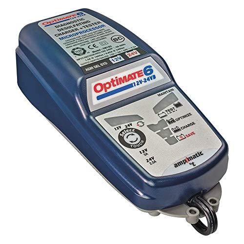 TECMATE OptiMATE 6 12V/24V, TM-193, 8-step 12V 5A / 24V 2.5A sealed battery saving charger & maintainer