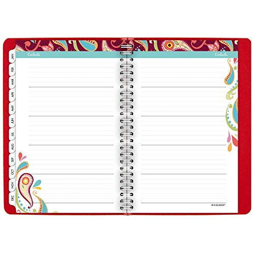 """AT-A-GLANCE Weekly / Monthly Appointment Book / Planner 2017, 5-1/2 x 8-1/2"""", Premium, Playful Paisley (952P-200) Photo #8"""