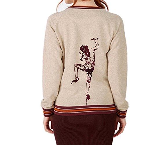 climbing girl Klettern Sweatshirt Pullover Damen Premium Bio Stanley&StellaTrips Tipped L