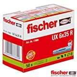 Fischer UX6X35R - Tacos universales (6 x 35 mm) (2 paquetes de 50 unidades)