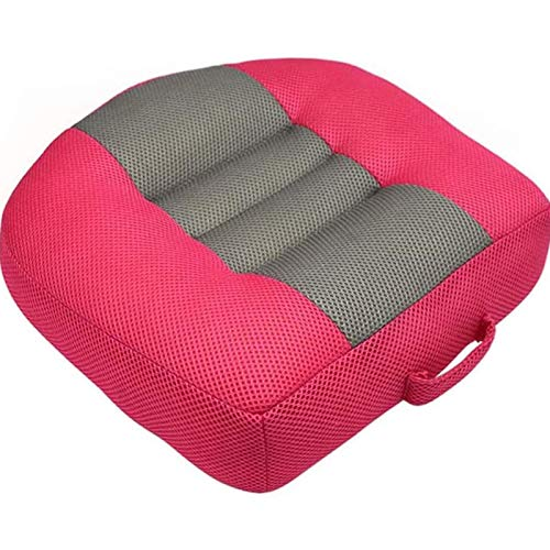 WLDQ Booster Cushion, Portable Breathable Non-slip Mesh Cushion, effectively Increase the Field of View Suitable for cars, offices and students