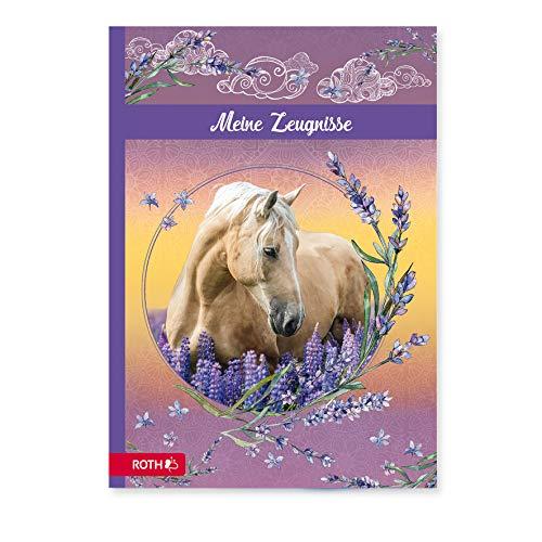 ROTH Zeugnismappe Pferdeträume - mit 10 A4 Klarsichthüllen, dokumentenecht - Dokumentenmappe