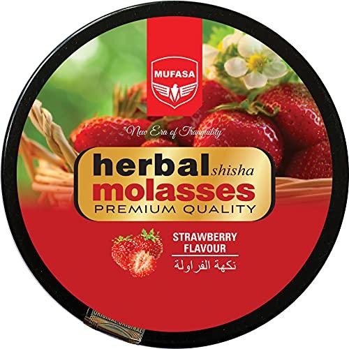 Xagi Mufasa Kräuter-Shisha Molasse Shisha Geschmack Kein Nikotin Nicht-Tabak Geschmack für Hookah Shisha Pfeife 250g - Virginia Strawberry