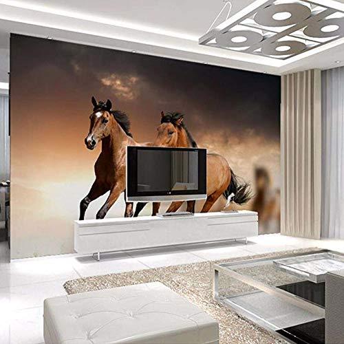 3D Fototapete Moderne Wanddeko Wandbilder Braunes Tierlaufpferd Vlies Wand Tapete Wohnzimmer Schlafzimmer Büro Flur Dekoration 200x150 cm