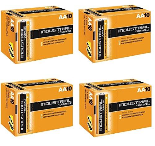 Duracell MN1500 - Batteria industriale alcalina, 1,5 V, confezione da 10, 20, 30, 40, 50