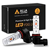 Alla Lighting 3800lm 9006 Red LED Fog Lights Bulbs ETI 56-SMD Xtreme Super Bright HB4 9006 LED Bulbs Replacement for Cars, Trucks, SUVs, Vans