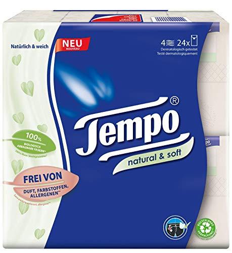 Tempo Taschentuch natural und soft Taschentücher, 6100 g