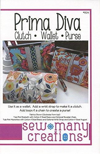 Prima Diva: Clutch - Wallet - Purse - Sewing Pattern