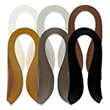 JUYA Single Color Quilling Strips Set 600 Strips 6 Colors 39cm Length/Strip Paper Width 3mm